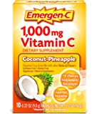 Emergent-C Dietary Supplement with 1000mg Vitamin C (Coconut-Pineapple Flavor, 10-Count 0.32 oz. Packets)