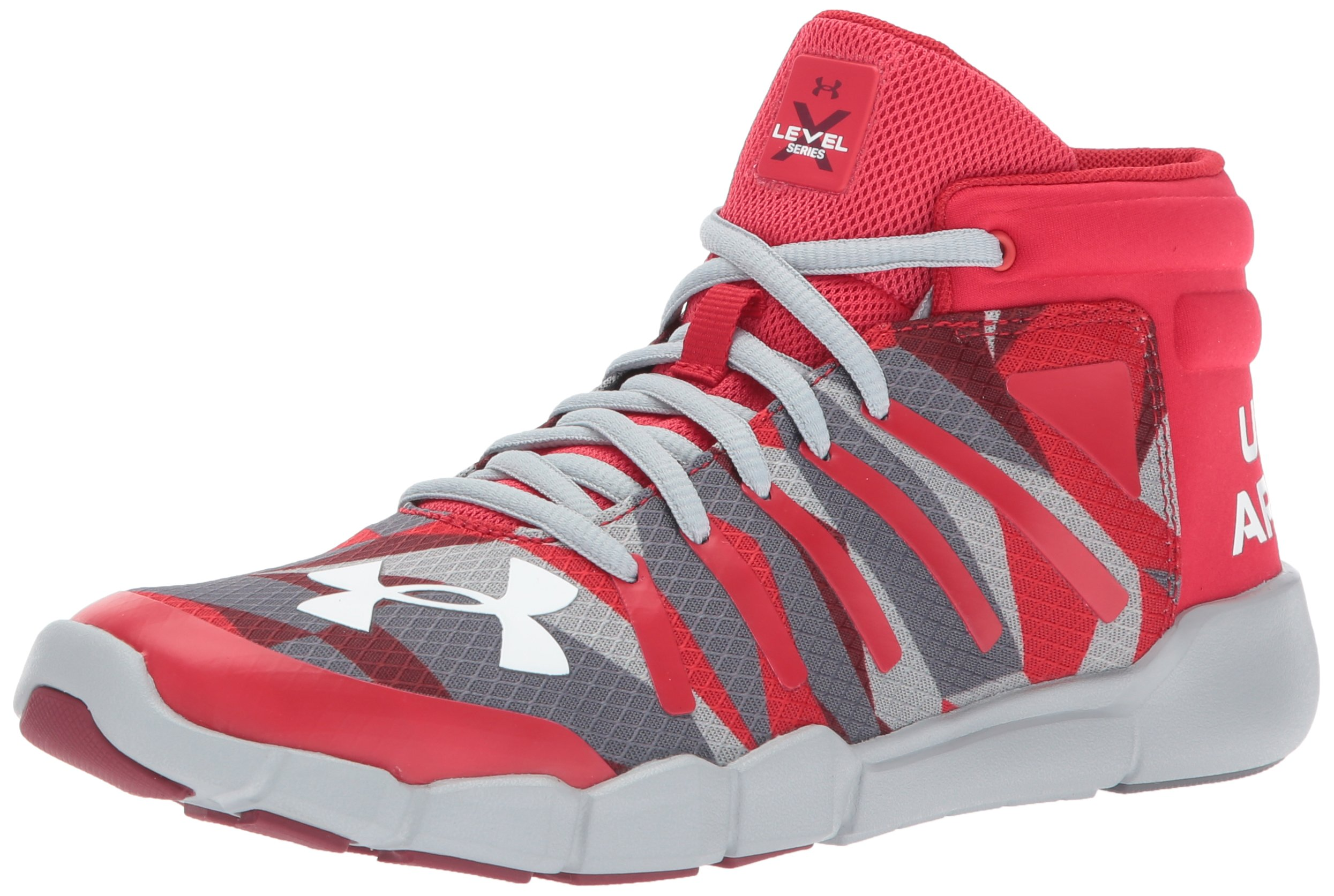 Under Armour Boys' Grade School X Level Destroyer Ankle Boot, Red, 6 by Under Armour