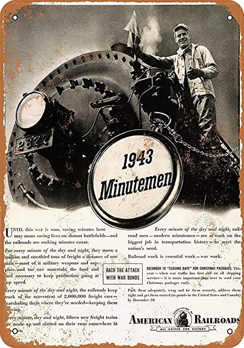 Hunnry American Association Railroads Minutemen Póster De ...