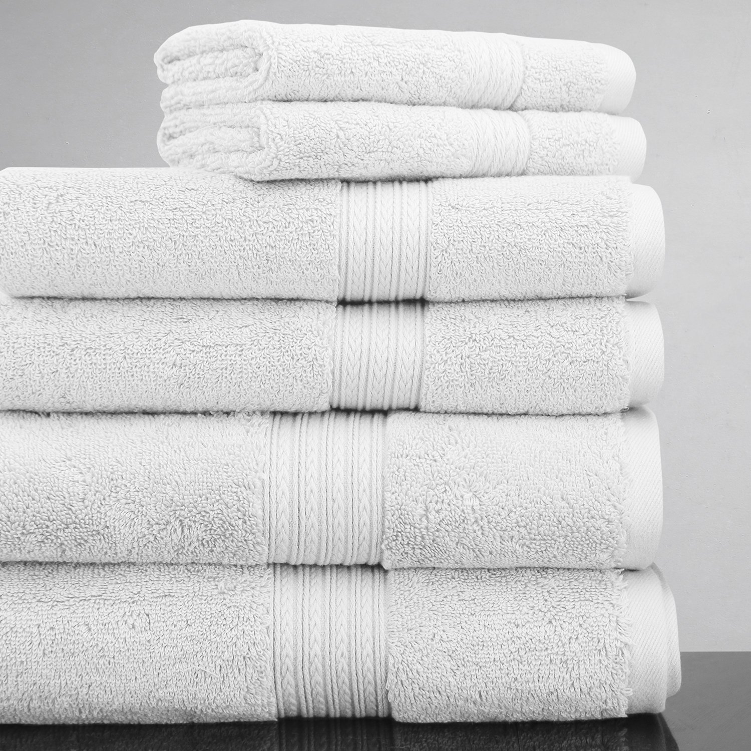 Luxor Linens 100% Egyptian Cotton Luxury 6-Piece Towel Set - White - His & Hers in Gift Packaging