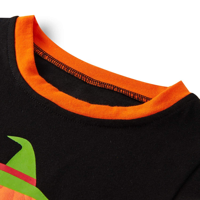 Loveternal Boys Pajamas Cute Pumpkin 100% Cotton Round Neck Homewear Kids Sleepwear Black