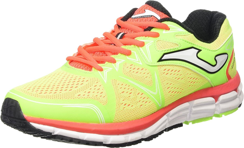 Joma Super Cross - Zapatillas de Running para Hombre, Color flúor, Talla 44.5: Amazon.es: Zapatos y complementos