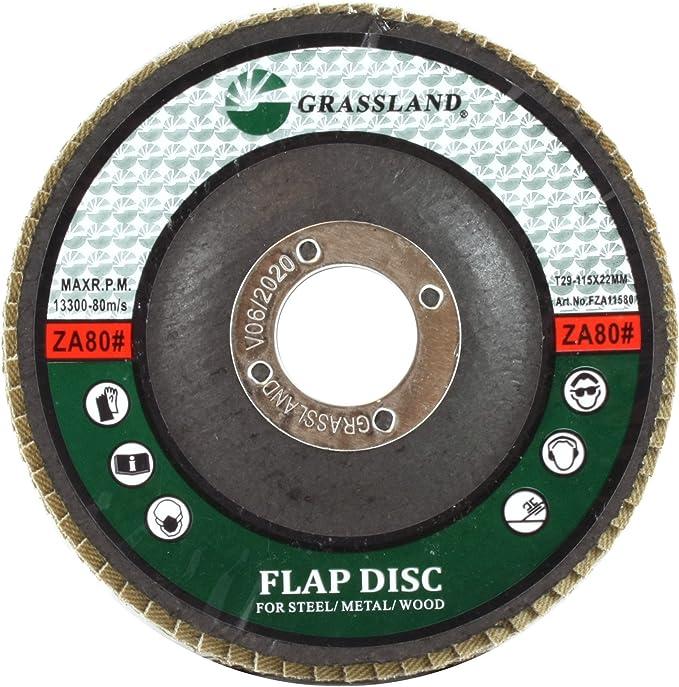 4.5/'/'x7//8/'/' 80 GRIT T29 PREMIUM ZIRCONIA FLAP DISC SANDING GRINDING100 Pcs