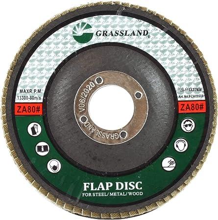 "PACK 10 PREMIUM ZIRCONIA FLAP DISC SANDING GRINDING 4-1//2/"" X 7//8/"" 80 GRIT"