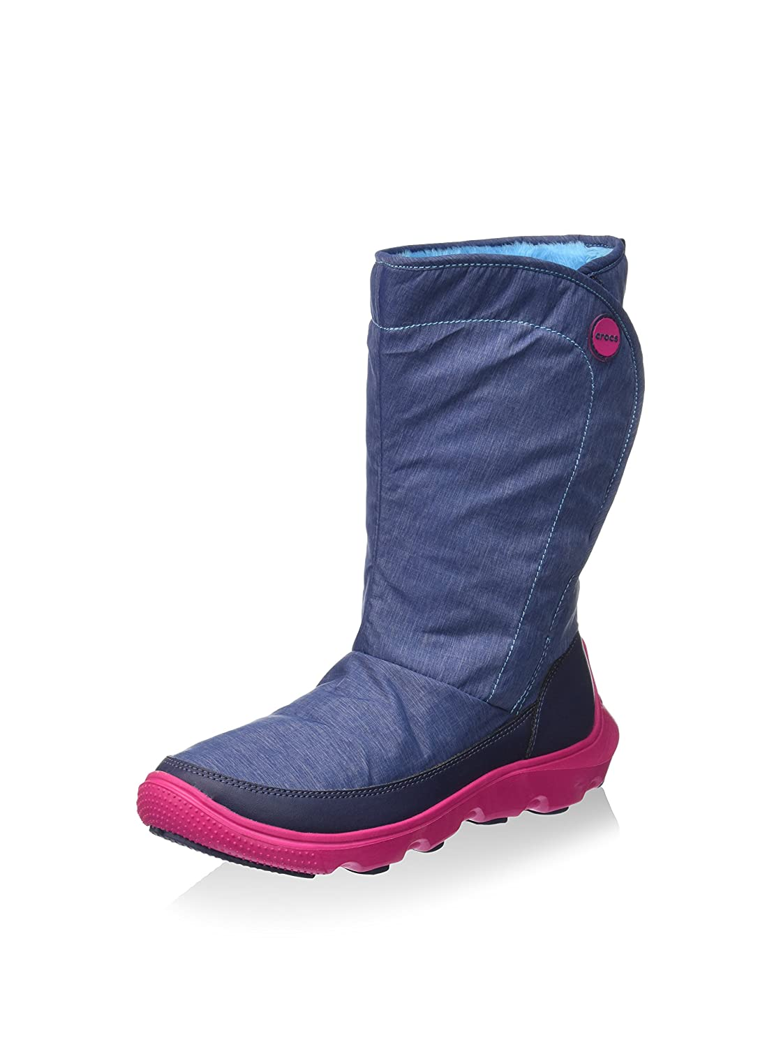 Crocs Duet Busy Day Winter Boot W - Botas de sintético mujer Blu (Nautical Navy/Candy Pink)