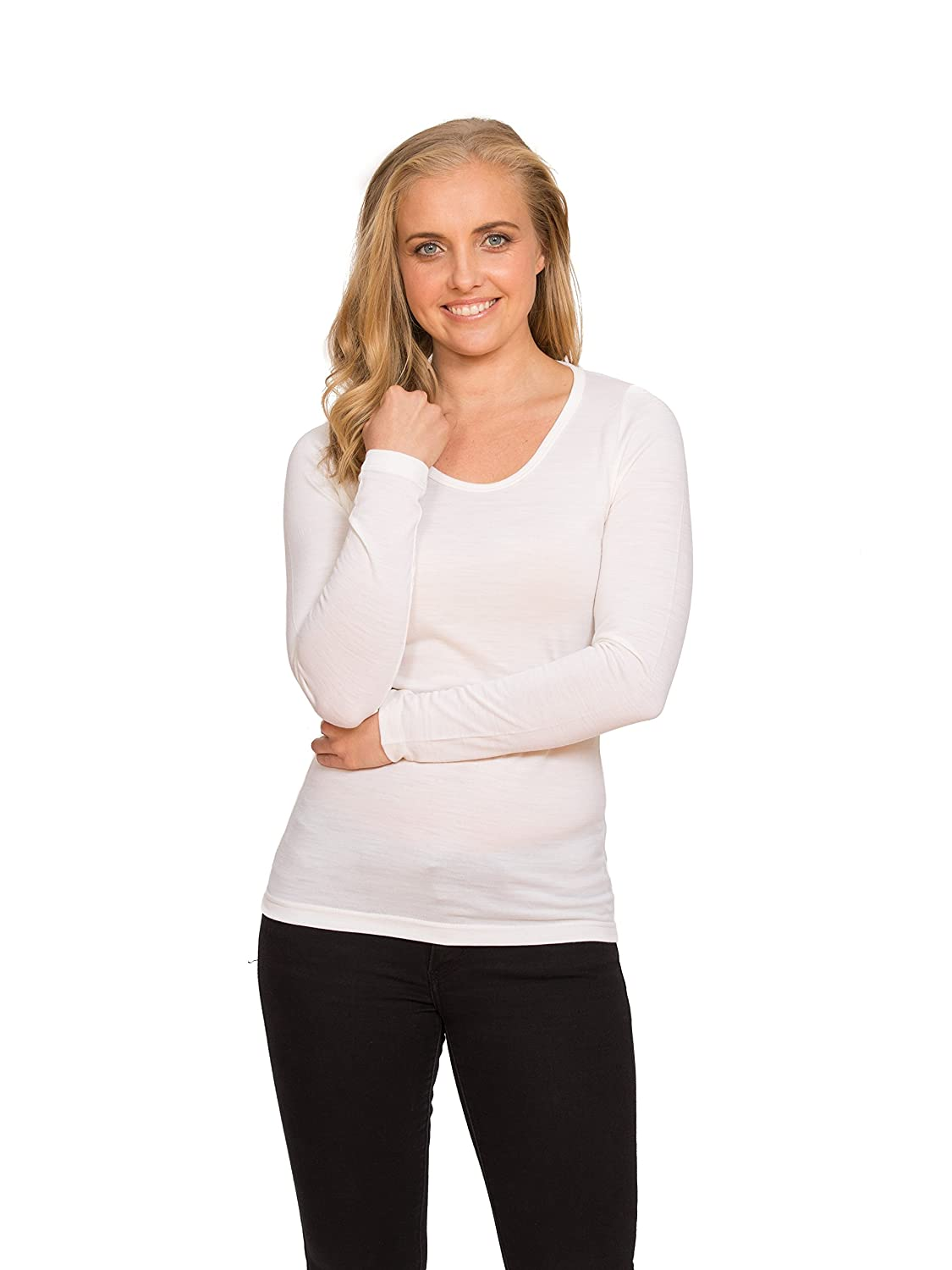 From Merino With Love - 100% Merino Wool Long Sleeve Scoop Thermal - Made in New Zealand