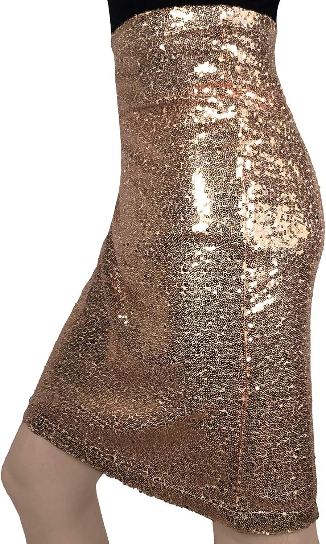 MS Style Womens Sequin Skirt Bodycon Sparkle Mini Skirt