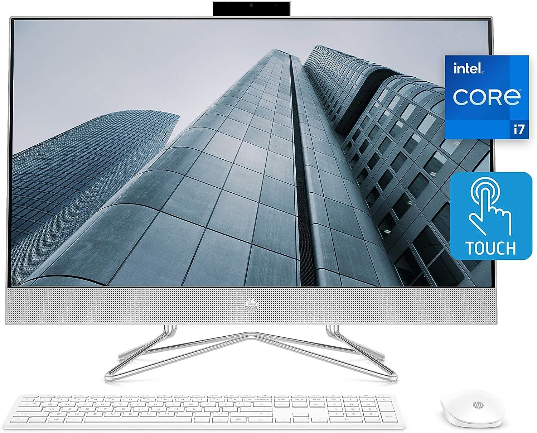 HP 27 All-in-One PC, 11th Gen Intel Core i7-1165G7 Processor, 16 GB RAM, 512 GB SSD, 27