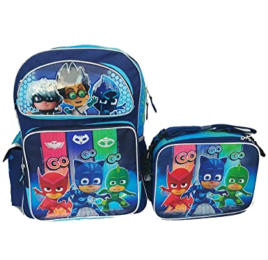 "PJ Masks Large School Backpack 16"" Boys & Lunch Bag 2 pc ..."