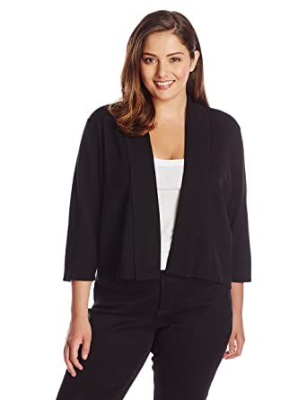 Calvin Klein Women's Plus-Size Open-Front Cardigan at Amazon ...