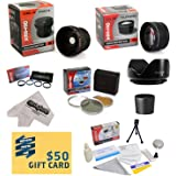 Canon Powershot S5 IS S3 IS Ultimate 15 Piece lens Kit - Package Includes 0.20X Super Wide Angle Fisheye lens, 5 PC Close-Up Set (+1, +2,+4 with 10X Macro Lens) , 2.2x HD AF Telephoto Lens + 3 Piece Pro Filter Kit (UV, CPL, FLD) + Tube Adapter + Flower Hood + Deluxe Lens Cleaning Kit + LCD Screen Protectors + Mini Tripod + 47stphoto Microfiber Cloth Photo Print !