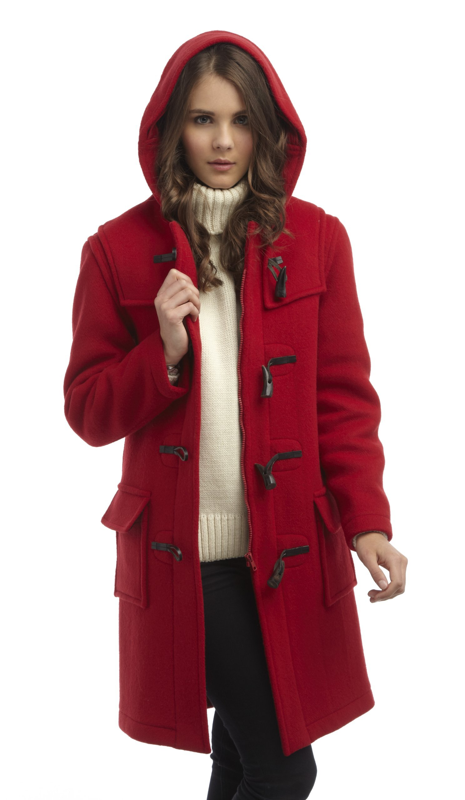 Original Montgomery Womens Duffle Coat -- Red Size 16