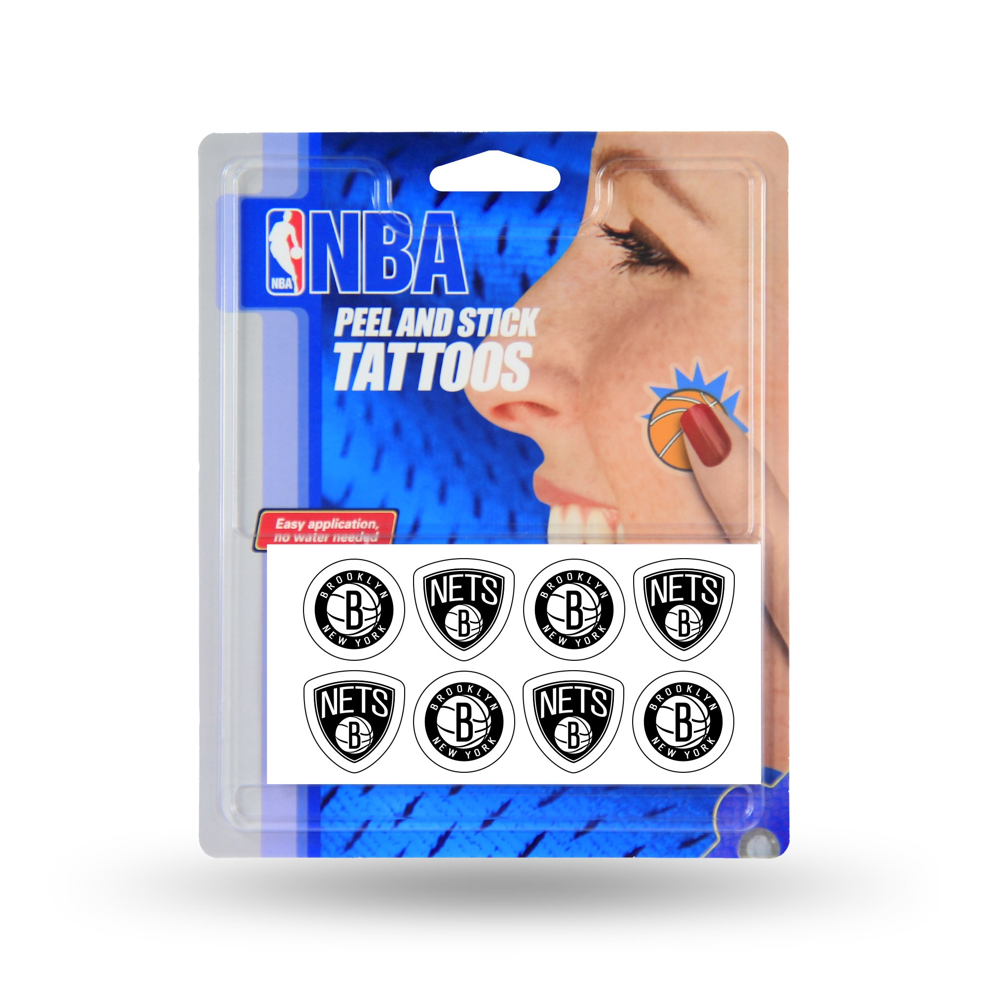 NBA Brooklyn Nets Face Tattoos, 8-Piece Set