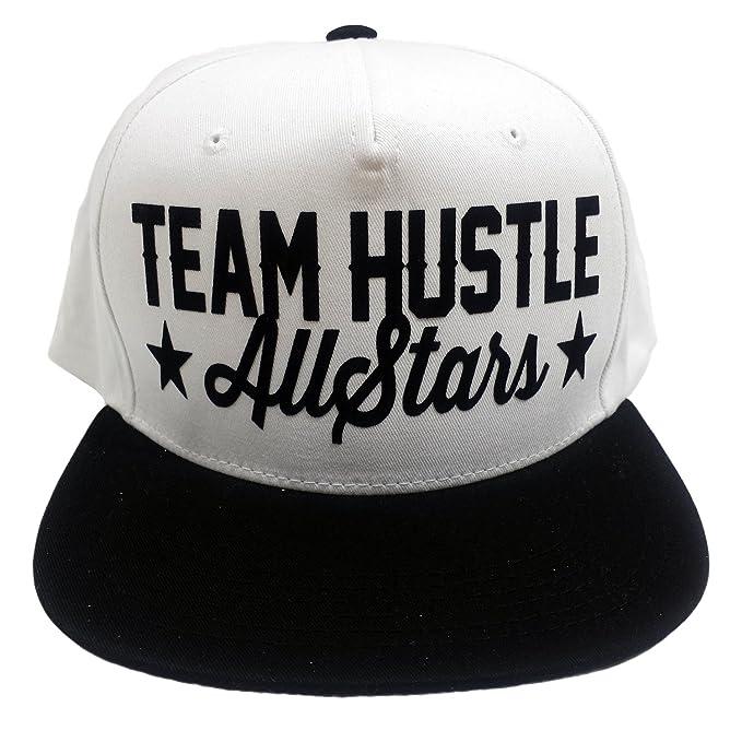 HATCO Team Hustle All Stars Flocked White Black Two Tone Five Panel ... 15f473eafcf2