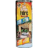 Easy Gardener Sun Screen Fabric (Reduces Temperature Up to 15 Degrees, Provides 75% More Shade) Heavy Duty Black Shade Fabric, 6 Feet x 20 Feet