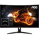 "AOC C32G1 32"" Curved Frameless Gaming Monitor, FHD 1920x1080, VA panel, 1ms MPRT, 144Hz, FreeSync, DisplayPort/HDMI/VGA…"