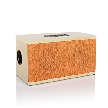 Radioddity Bluetooth 4.0 Madera Mesa Altavoz FM Mesa Radio, 10W ...