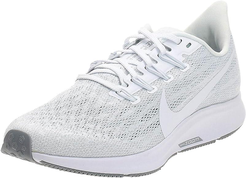 Nike Wmns Air Zoom Pegasus 36, Zapatillas de Running para Mujer, Blanco (White/White/Half Blue/Wolf Grey 100), 40.5 EU: Amazon.es: Zapatos y complementos