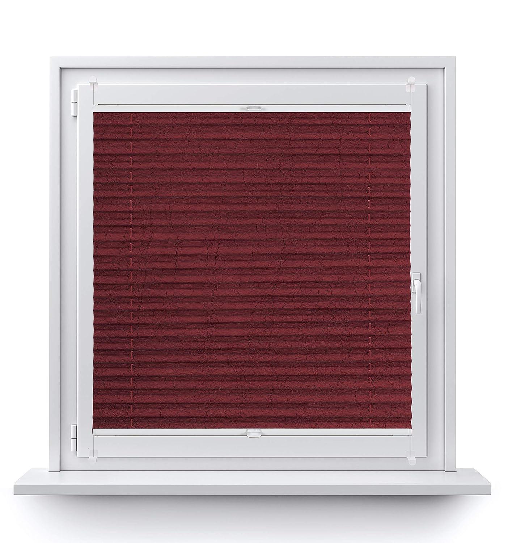 Rollo Studio Moderner Crushed Optik, Fenster Plissee Plissee Plissee auf Maß, ohne Bohren mit Neu Klemmfix Smartfix Jalousie System, Viele Größen und Farben, für alle Fenster, Fensterrollos, Weiß B07MZXS5ZB Plissees 47fdb2
