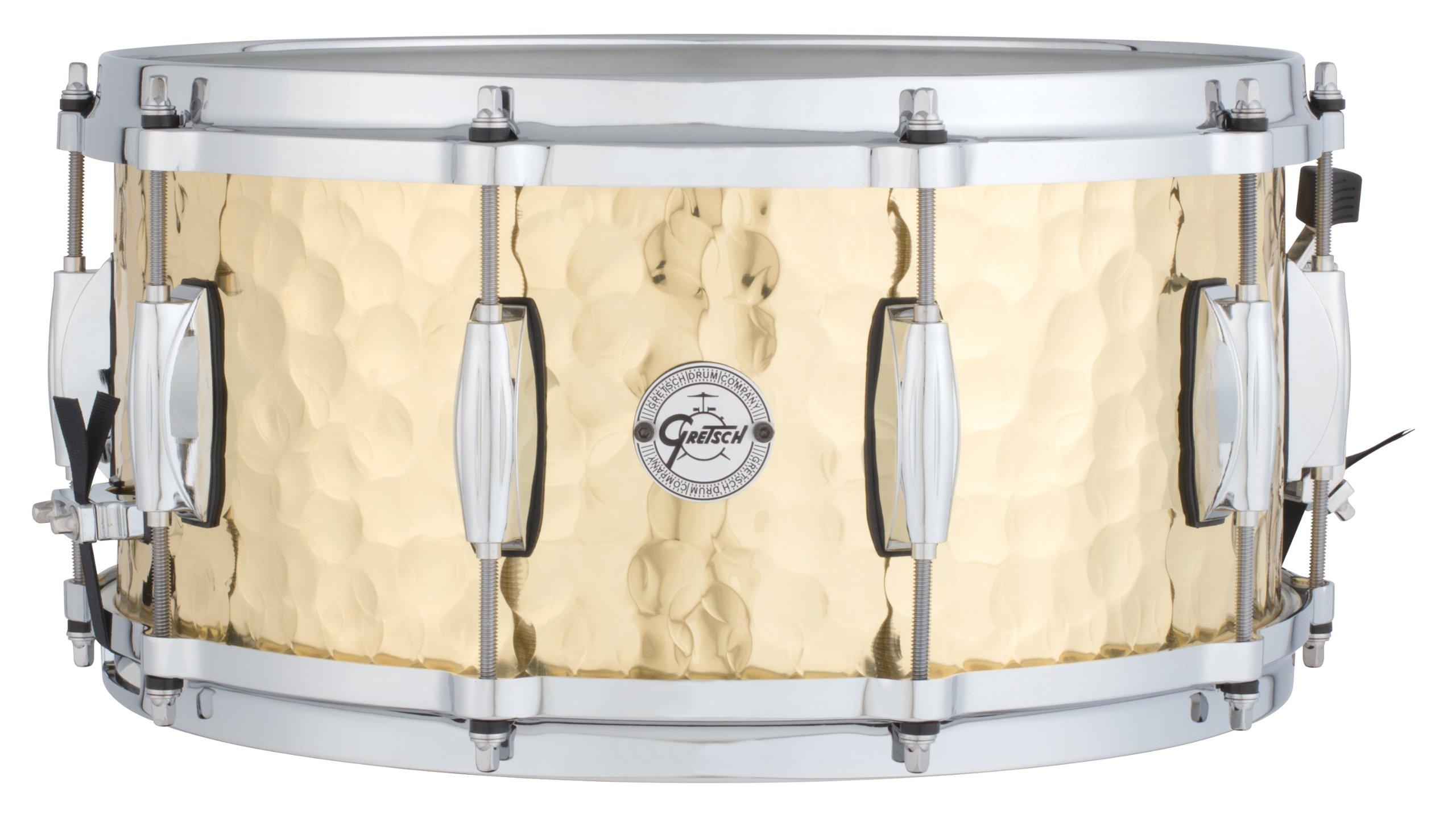 Gretsch Drums Full Range Series S1-6514-BRH 6.5x14'' Hammered Brass Snare Drum by Gretsch Drums