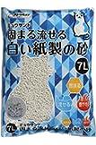 クリーンミュウ 固まる流せる白い紙製の砂 7L