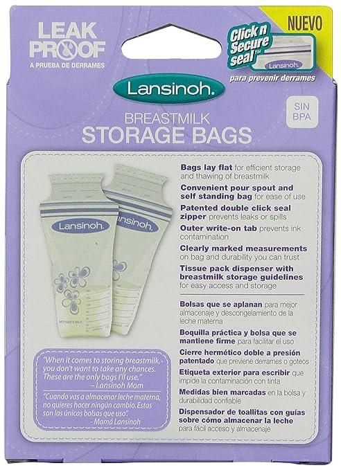 Amazon.com : La leche materna bolsas de almacenamiento, Cajas 25-Count (paquete de 3) : Baby
