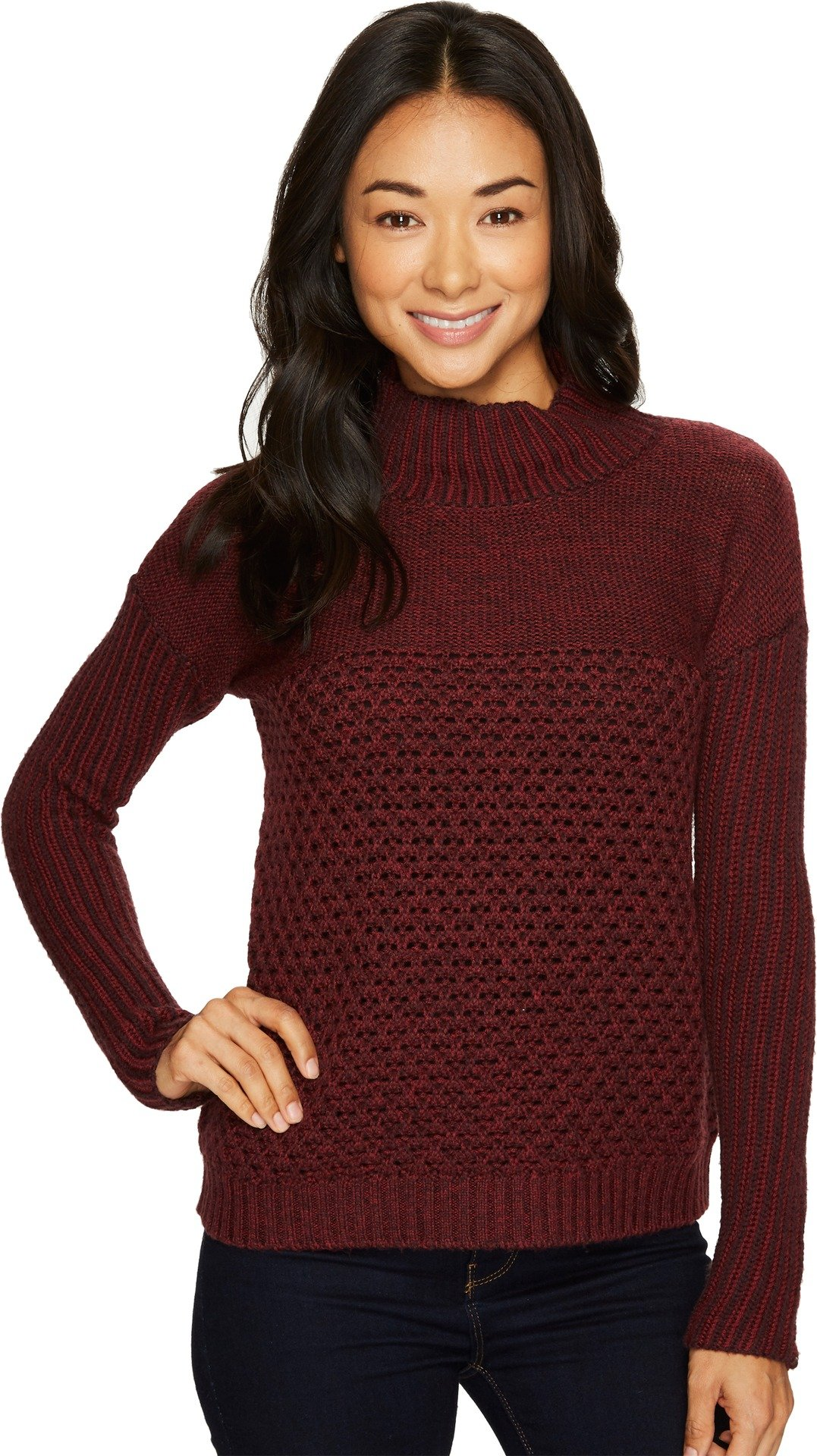 Toad&Co Women's Tupelo Sweater, Mahogany, Large by Toad&Co