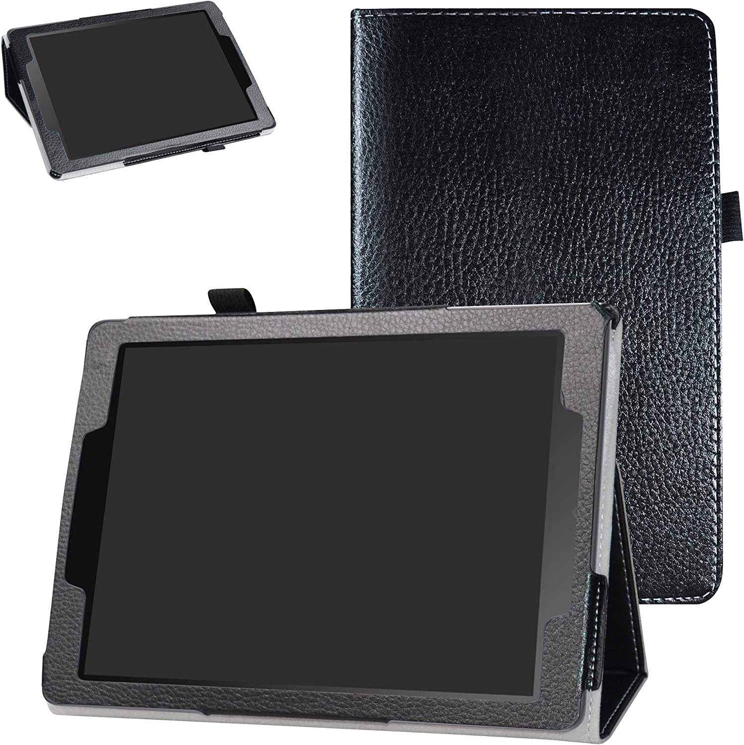 """Chromebook Tablet CT100PA Case,Bige PU Leather Folio 2-Folding Stand Cover for 9.7"""" ASUS Chromebook Tablet CT100PA,Black"""