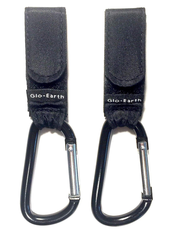 Glo-Earth Strong Buggy Hooks x2 Pram/Pushchair Carabiner, Mummy Clips Shopping Universal Glo-Earth LTD