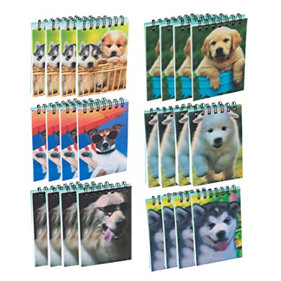 Dog Spiral Notepad, Puppy Party Supplies (55 Sheets, 24-Pack): Kitchen & Dining