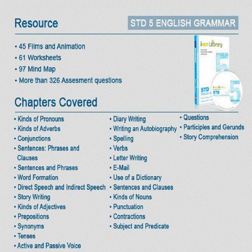 iken Library Class 5 English Grammar: Amazon.in: Software