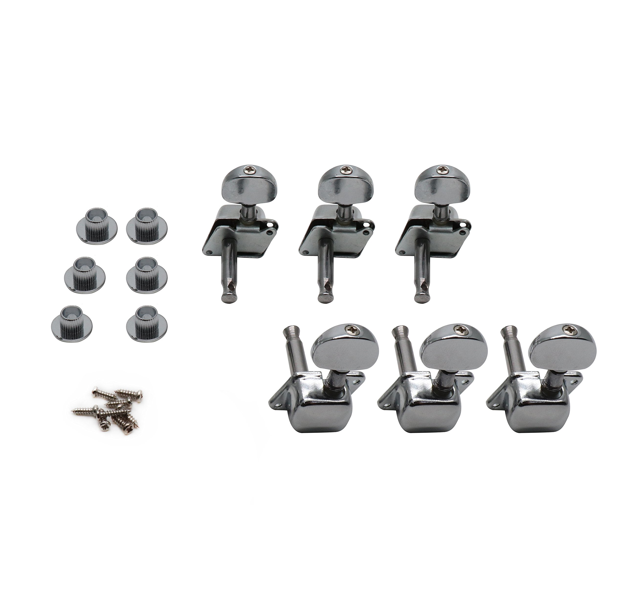 Guitar Parts 3 Left 3 Right Machine Heads Knobs Guitar String Tuning Pegs Machine Head Tuners Come With Screws