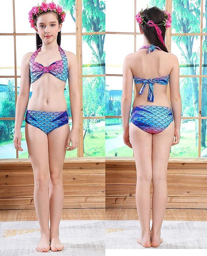 Amazon.com: Cola de sirena para nadar, con monofín, ropa de ...