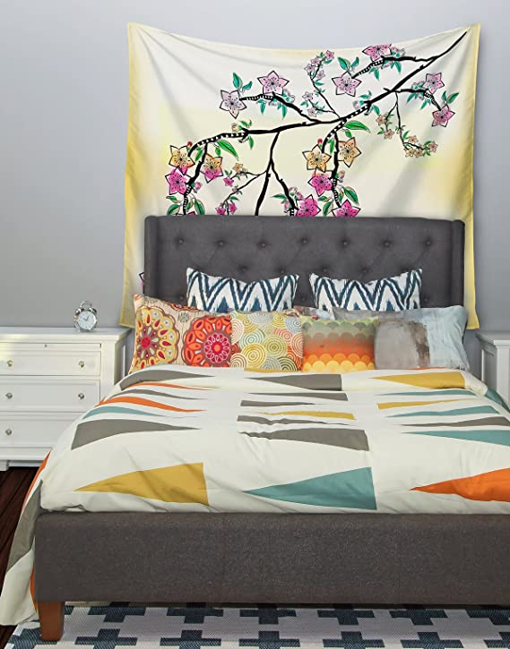 Kess InHouse Famenxt Owl White Purple Bed Runner