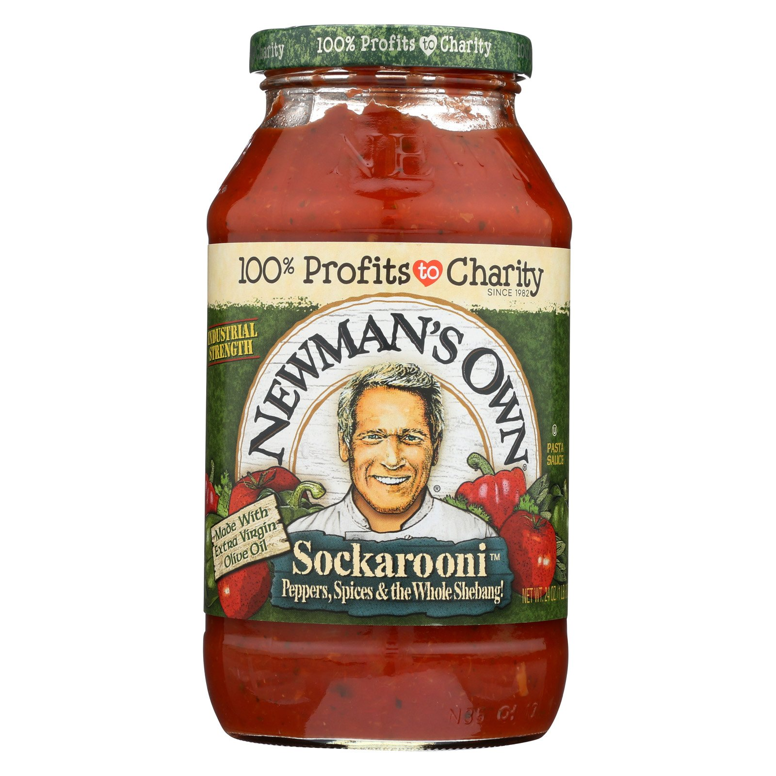 Newman's Own Pasta Sauce - Sockarooni - Case of 12 - 24 Fl oz.