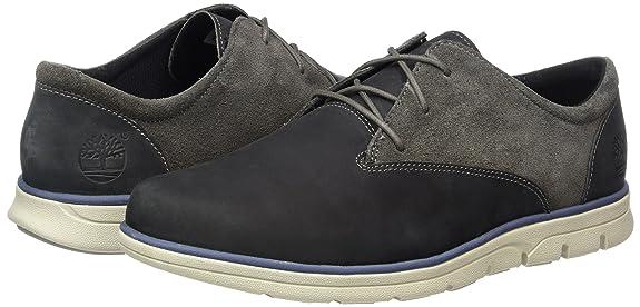 Timberland Bradstreet Plain Toe Sensorflex, Zapatos de Cordones Oxford para Hombre, Gris (Pewter Saddleback), 40 EU