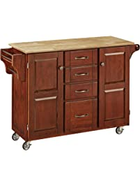 Home Styles 9100 1071 Create A Cart 9100 Series Cabinet Kitchen Cart With