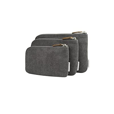 Travelon Heritage Set of 3 Pouches, Pewter