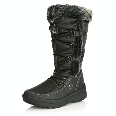 Women's Warm Frosted Faux Fur Lined Side Zipper Mid Calf Boots