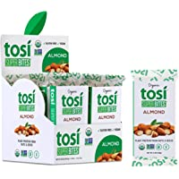 Tosi Organic SuperBites Vegan Snacks, 2.4oz (Pack of 12), Gluten Free, Omega 3s, Plant Protein Bars with Flax and Chia…