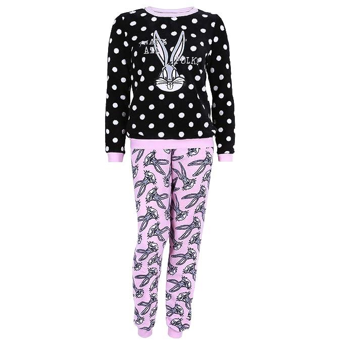 Looney Tunes Pijama Negro-Rosa Bugs Bunny - XXS