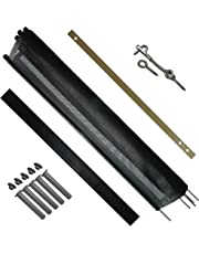 Pool Fence DIY by Life Saver Fencing Section Kit, 12-Foot Single Section, Black