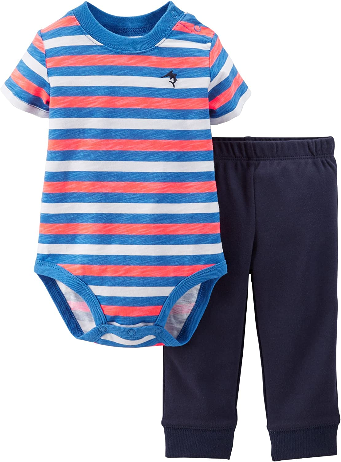 Baby newborn outfit set for boy/'s 3 piece set size 6-9lb navy blue by carter/'s