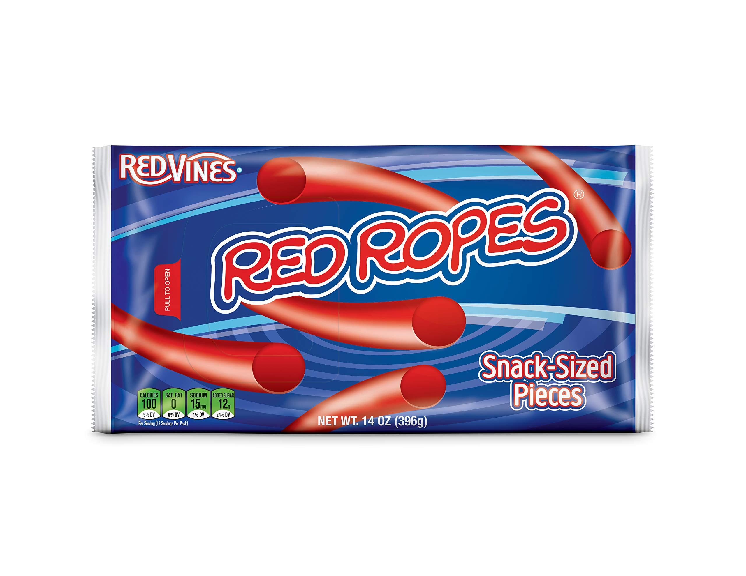 Red Vines Red Ropes, Classic American Red Licorice Rope Candy, Snack Size Treats, 12 Count