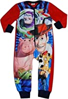 Boys Disney Toy Story Woody Buzz Onesie All in One Pyjamas Fleece Years 2-3 to 7-8