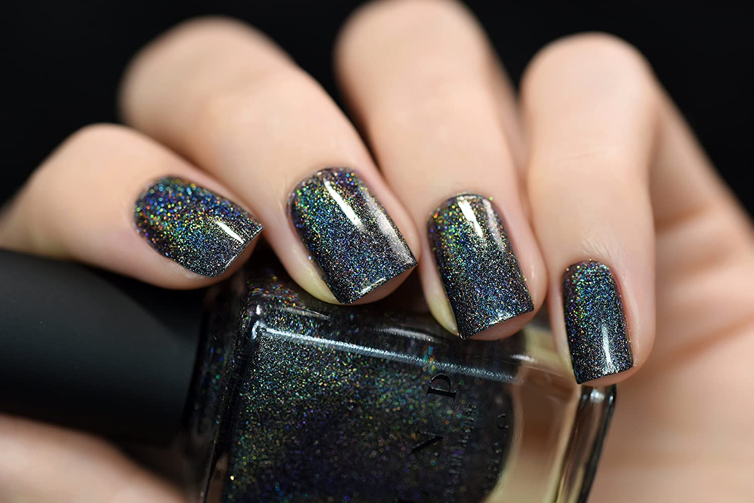Amazon.com : ILNP Missed Calls - Black Holographic Nail Polish : Beauty