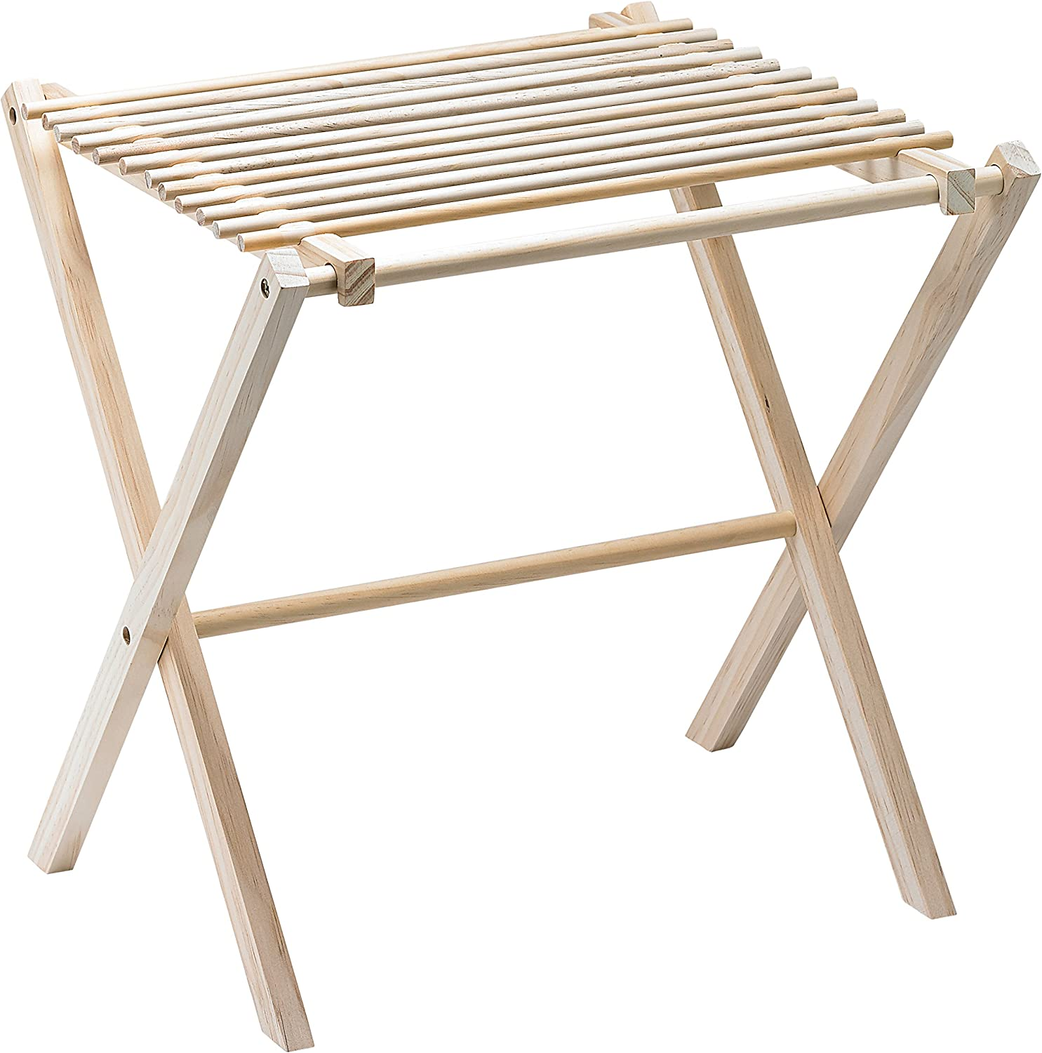 Fante's 43797 Collapsible Pasta and Noodle Drying Rack, Natural Wood, 14.5 x 16 x 15-Inches, The Italian Market Original Since 1906