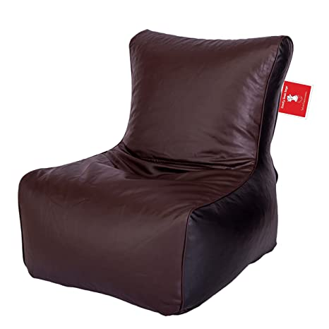 Comfy Bean Bags Bean Chair XXL Bean Bag without Fillers Cover (Brown and Black)