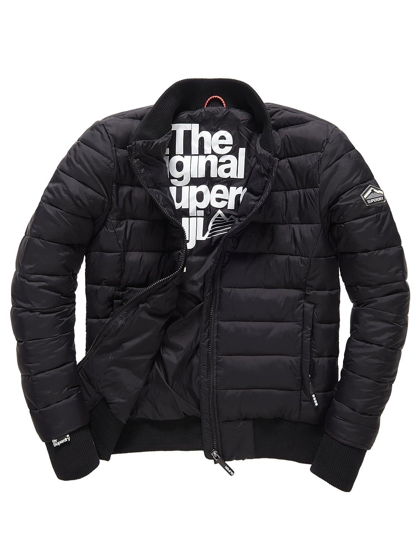 SUPERDRY Herren Regenjacken Fuji Bomber, Schwarz (Black02A), L