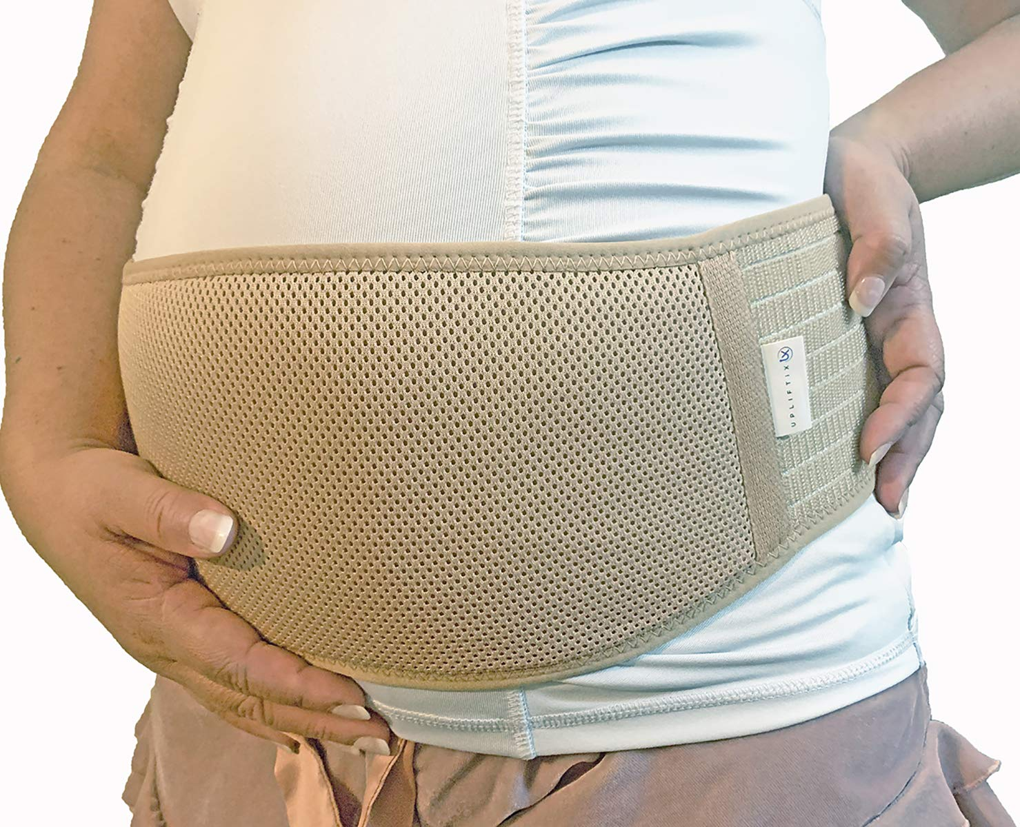 Relieves Pain During Pregnancy Postpartum Compression Maternity Belt by Upliftix Breathable and Comfortable Soft Belly Band with Adjustable Strap- Back Hip and Pelvic Support Brace